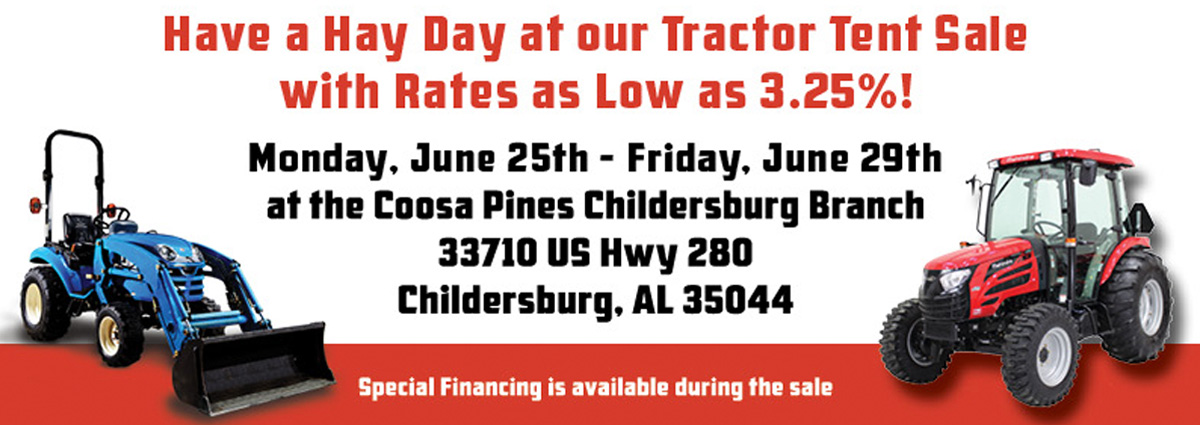 Coosa Pines Tractor Tent Sale